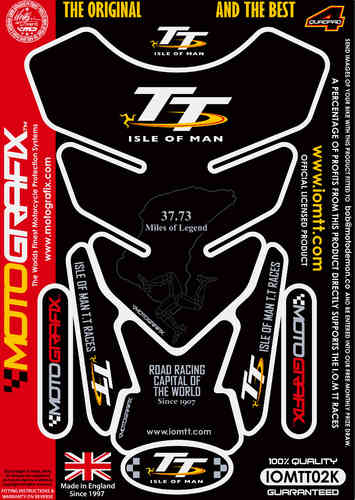 Isle Of Man TT Races Official Licensed Motorcycle Tank Pad Protector Motografix 3D Gel IOMTT02K