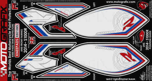 BMW S1000R 2014 2015 Motorcycle Front Fairing / Tank / Knee Section Paint Protector KB010MS