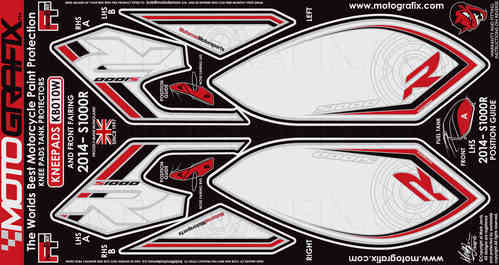 BMW S1000R 2014 2015 Motorcycle Front Fairing / Tank / Knee Section Paint Protector KB010W