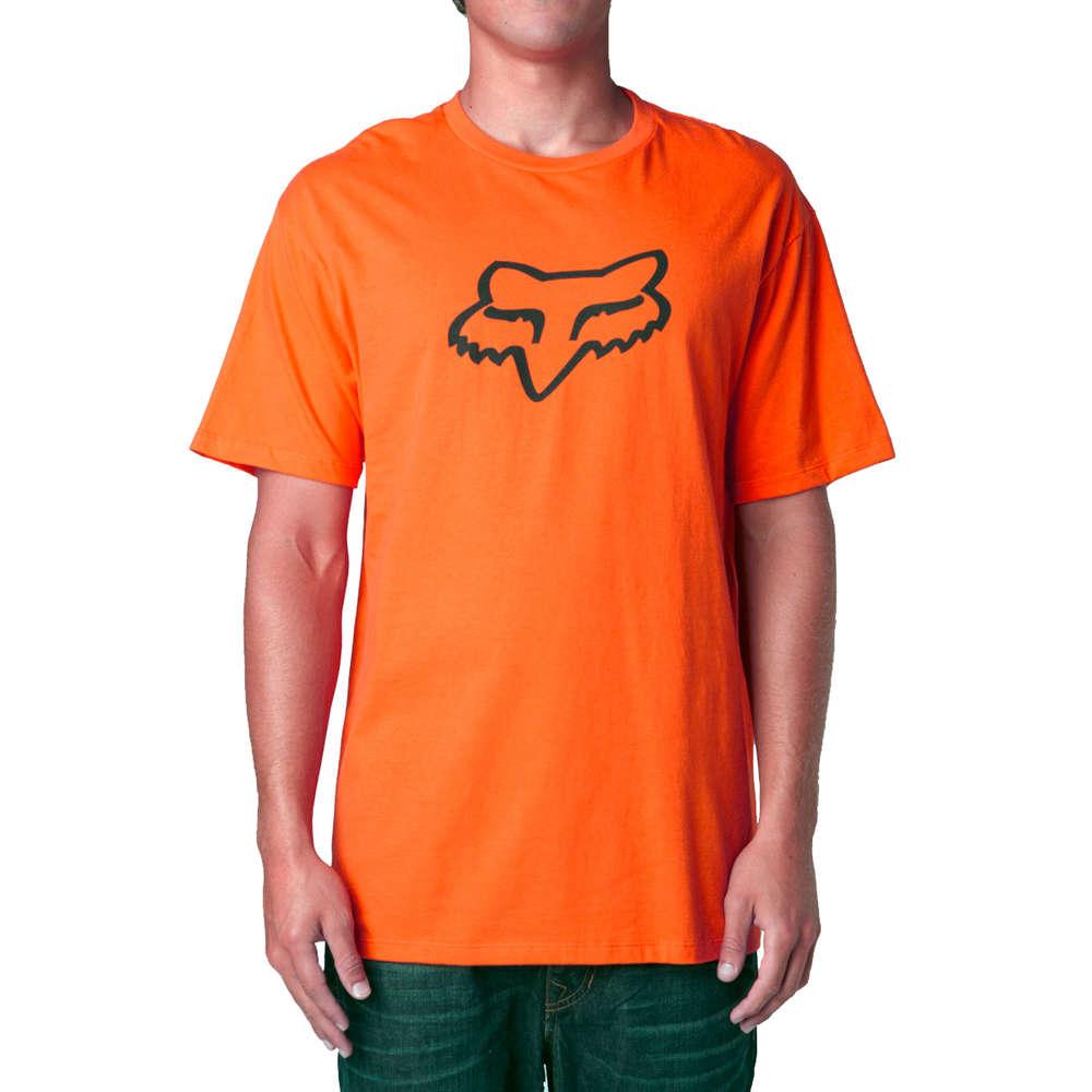 Design t shirt motocross - Fox Racing Legacy Foxhead Ss Tee T Shirt Mens Orange Motocross Design 14274 009