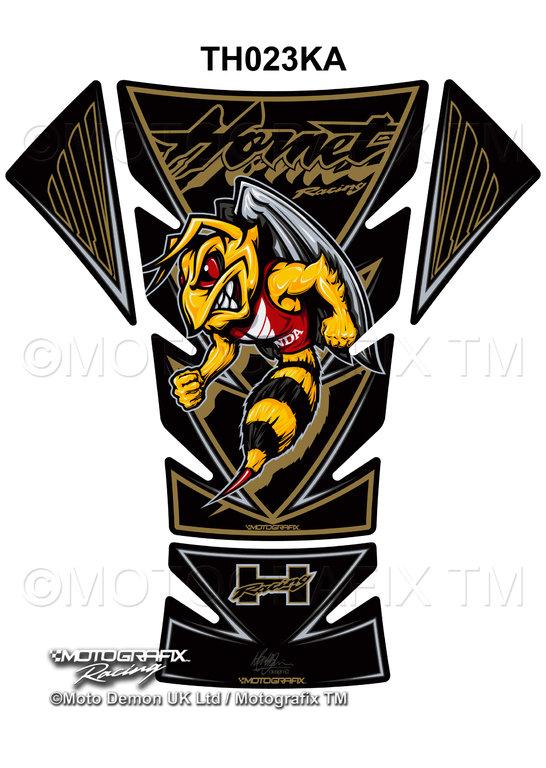 Honda Hornet 1998 2013 Black Gold Motorcycle Tank Pad Protector
