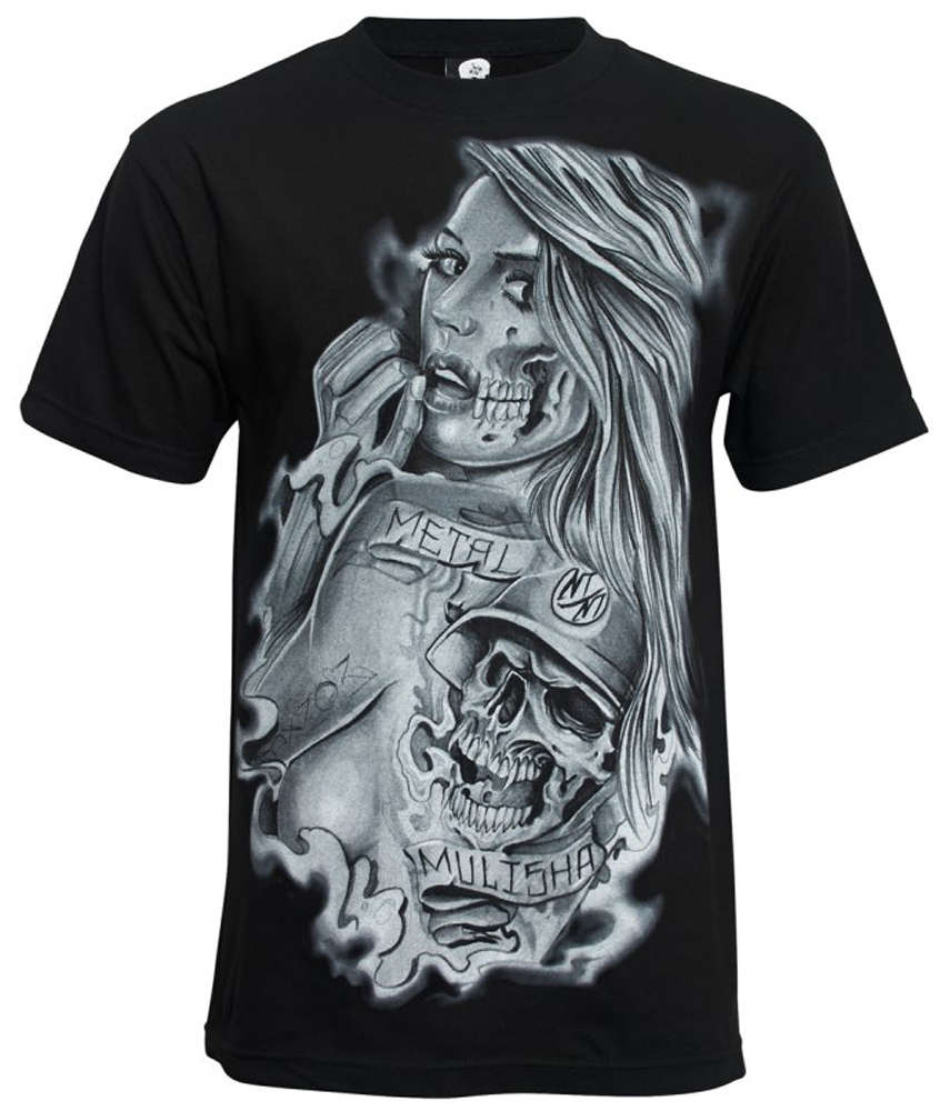 Metal Mulisha Back Piece Skull T Shirt Mens Black Tee MX   FMX Clothing  M145S18118 BLK 901d5f710