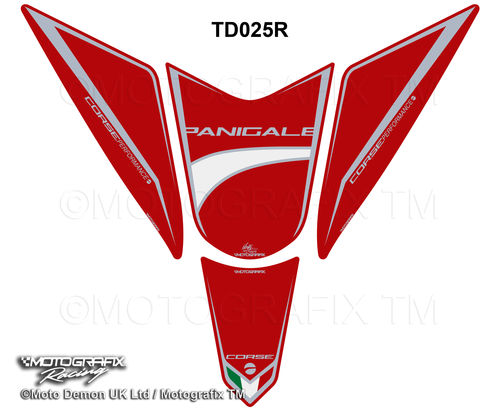 Ducati Panigale 1299 / S 959 2015 2016 Red Motorcycle Tank Pad Protector Motografix 3D Gel TD025R