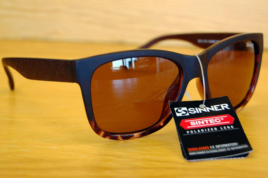 1a00b1c386fd Sinner eyewear sunglasses capo shiny brown tortoise frame with brown  polarised Sintec lens