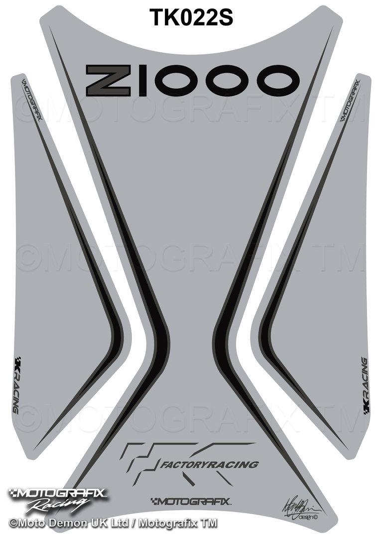 Kawasaki z1000 2003-2009 Motorcycle Tank Pad Protector Motografix Gel Tankpad