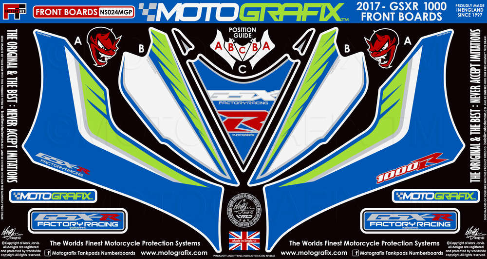 Suzuki Gsxr1000 17 18 Motorcycle Fairing Paint Protector Ns024mgp