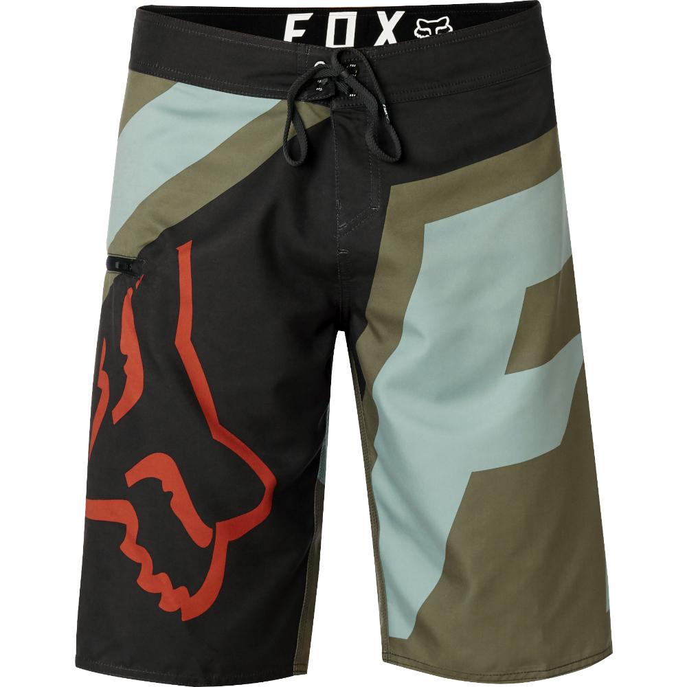56f86cc288 Fox Racing Allday Boardshort Swim / Surf Board Shorts Black & Green  21127-587 BLK ...