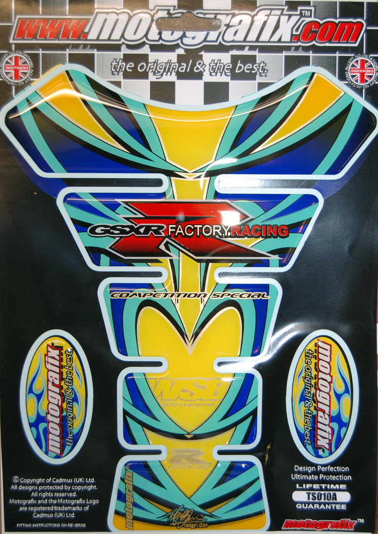 Suzuki GSXR 600 750 1000 Motorcycle Tank Pad Protector Paint Protection Decal TS010A S1