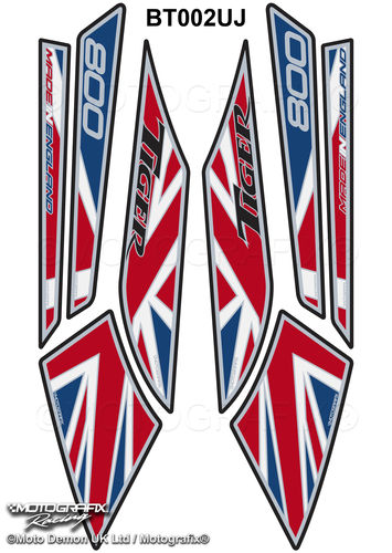 Triumph Tiger 800 2010 - 2016 Union Jack Motorcycle Beak Protector Paint Protection Decal BT002UJ