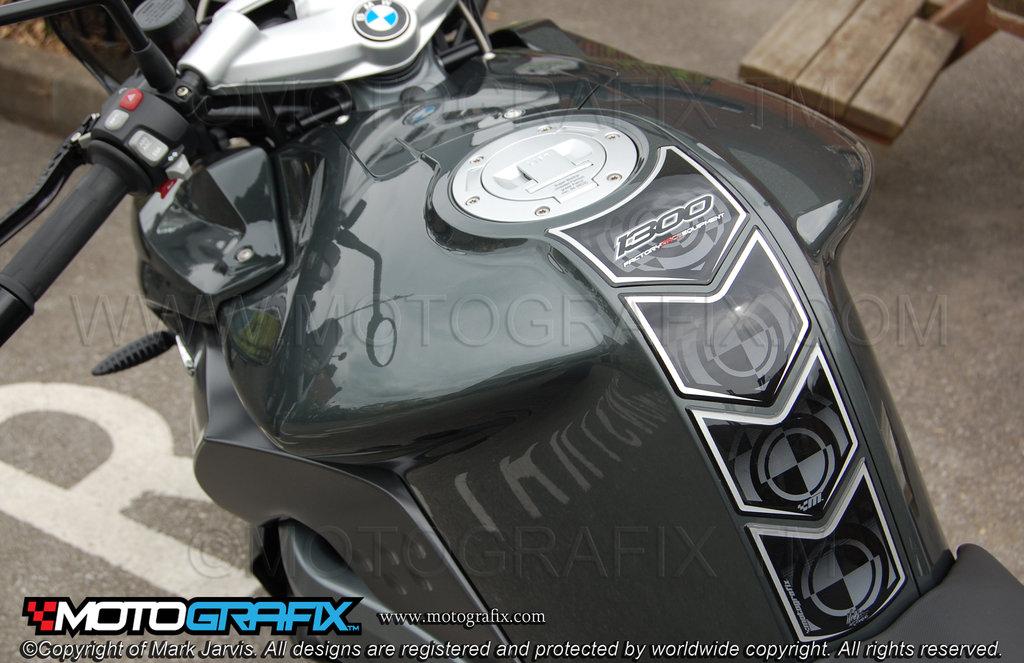 Bmw K1300r 2008 09 10 11 12 13 Black Motorcycle Tank Pad Tb007k