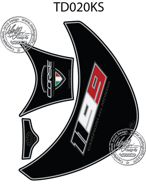 Ducati 1199 Panigale 2012 13 14 15 Black Silver Motorcycle Tank