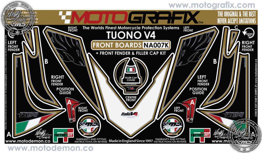 Aprilia RSV4 R Tuono V4 09 10 11 Motorcycle Tank Pad Tankpad Protector Motografix 3D Gel Protection TA013KR