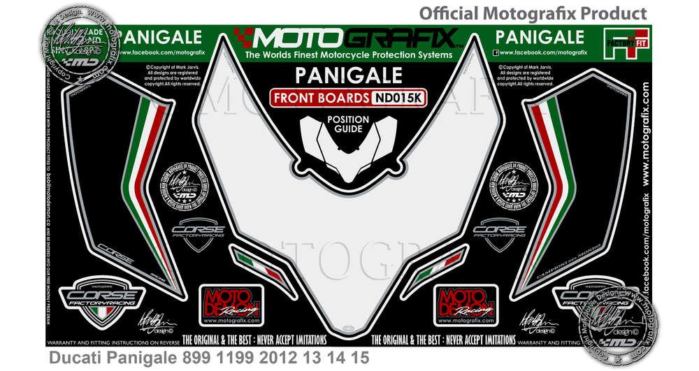 Original Type 3D Tank Protections Ducati Panigale