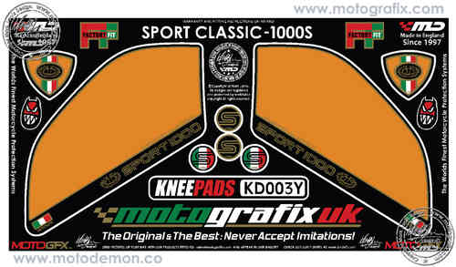 Ducati Sport Classic 1000 Motorcycle Tank / Knee Section Paint Protector KD003Y