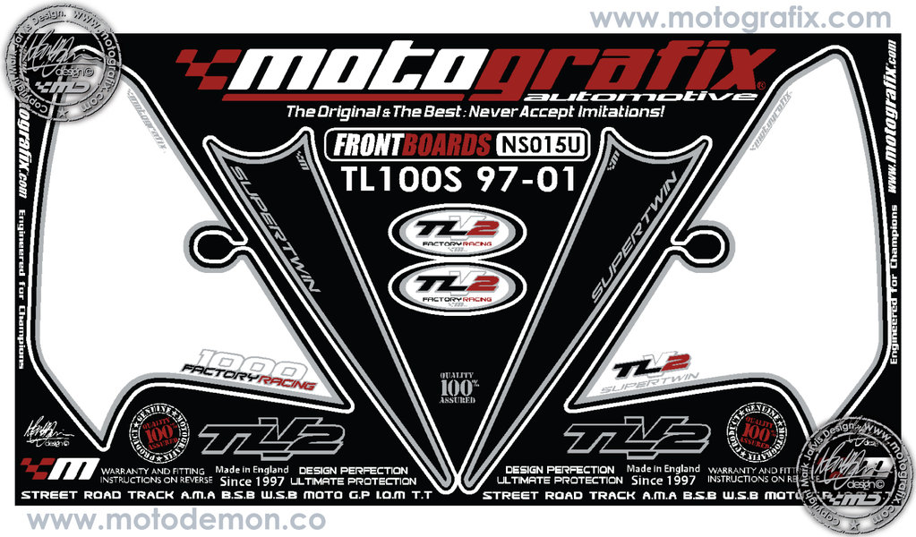 Motorcycle Tank Gas Protector Pad Sticker Fiber Rubber Decal Fit For Suzuki TL1000S 1997 1998 1999 2000 2001