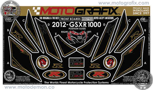 Suzuki GSXR 1000 2012 Motorcycle Front Fairing Paint Protector NS021KA