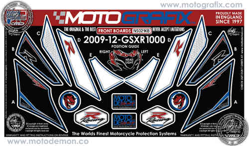 Suzuki GSXR 1000 2012 Motorcycle Front Fairing Paint Protector NS021KB