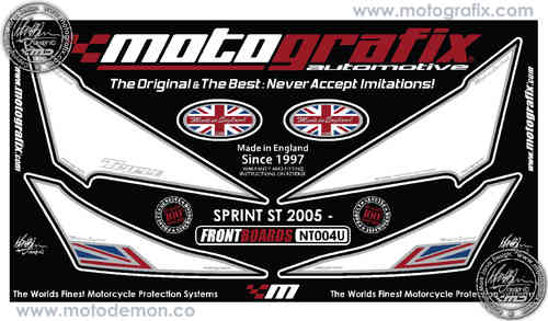 Triumph Sprint ST 2005 2006 2007 2008 2009 Motorcycle Front Fairing Paint Protector NT004U