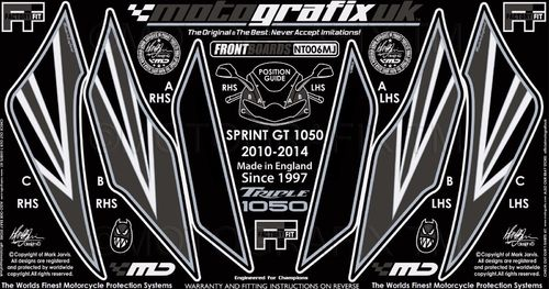 Triumph Sprint GT 1050 2010 2011 2012 2013 2014 Motorcycle Front Fairing Paint Protector NT006MJ