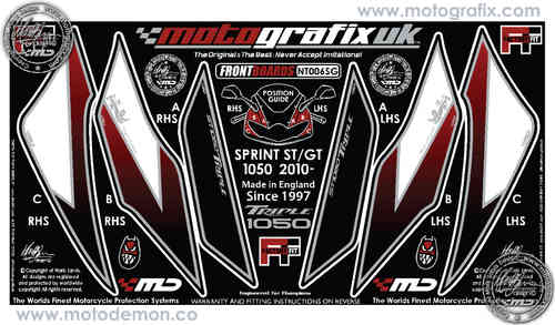 Triumph Sprint GT 2010 2011 2012 2013 2014 Motorcycle Front Fairing Paint Protector NT006SG