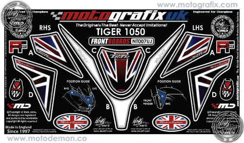 Triumph Tiger 1050 Motorcycle Front Fairing Paint Protector NT007UJ