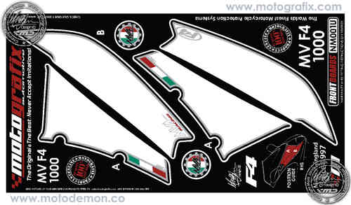 MV Agusta F4 750-1000 1999 Motorcycle Front Fairing Paint Protector NM001U