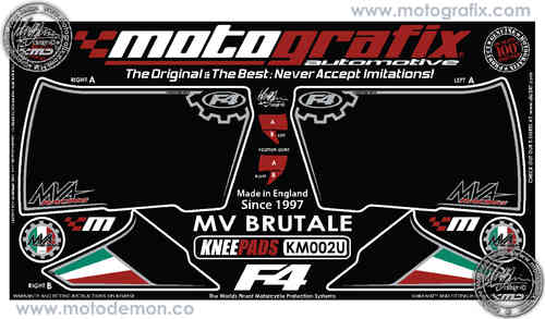 MV Agusta Brutale 2000 Motorcycle Tank / Knee Section Paint Protector KM002U