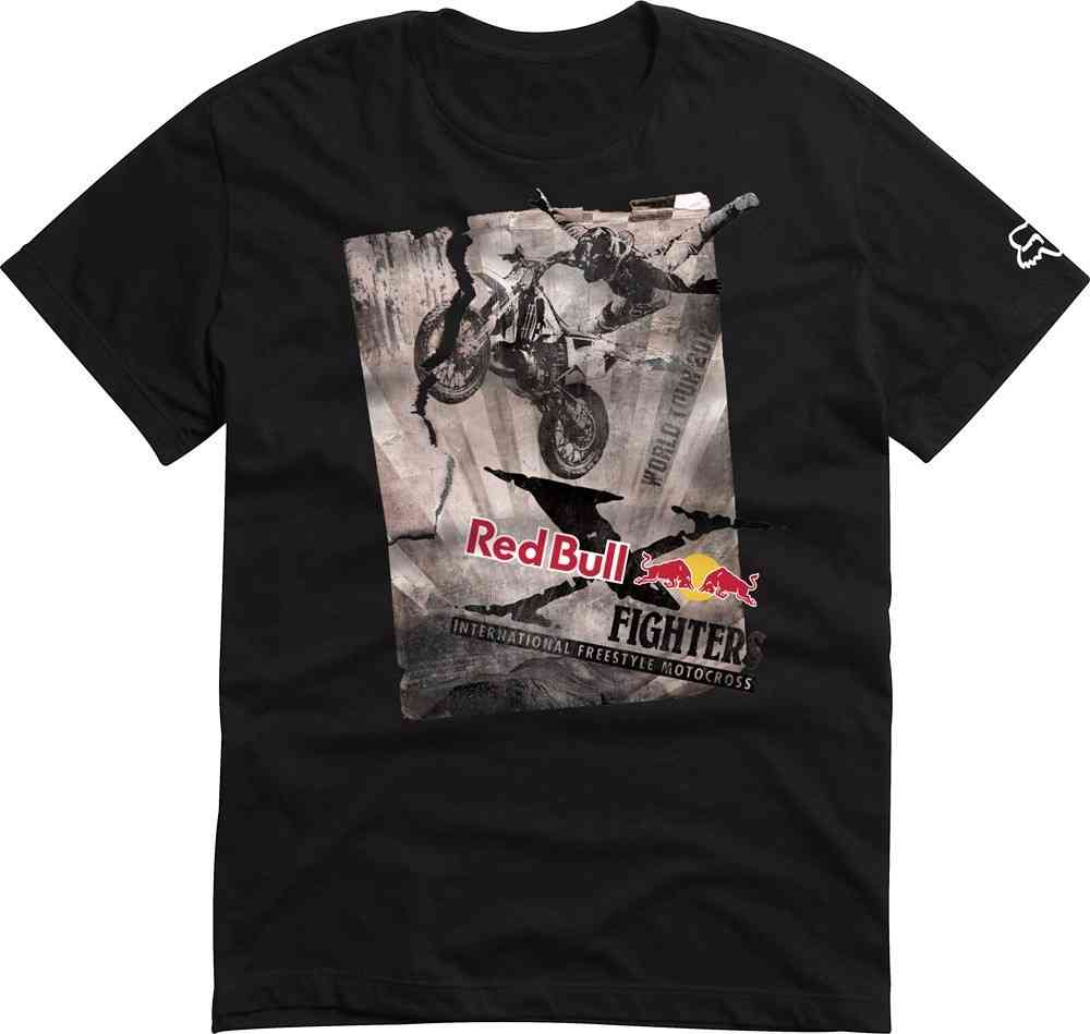 Red Bull X Fighters Posterize Tour mens t shirt black 100% cotton Moto X  FMX Style Clothing