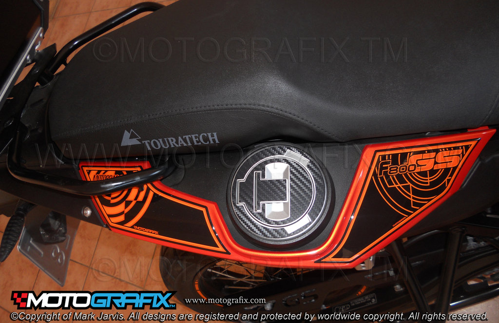 Bmw F800gs Motorcycle Rear Seat Unit Paint Protector Rb010ko
