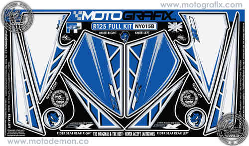 Yamaha R125 Full Kit Front Fairing / Rear Seat Unit / Knee Section Paint Protector NY015B
