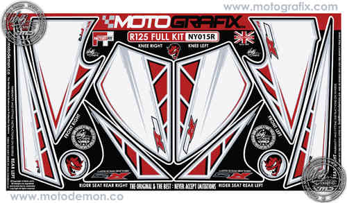Yamaha R125 Full Kit Front Fairing / Rear Seat Unit / Knee Section Paint Protector NY015R