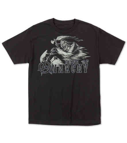 Metal Mulisha SOA Riding Reaper mens black t shirt Sons Of Anarchy