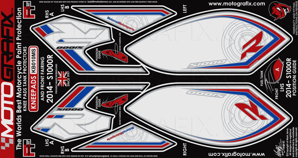 Bmw S1000r 2014 2015 Motorcycle Front Fairing Tank