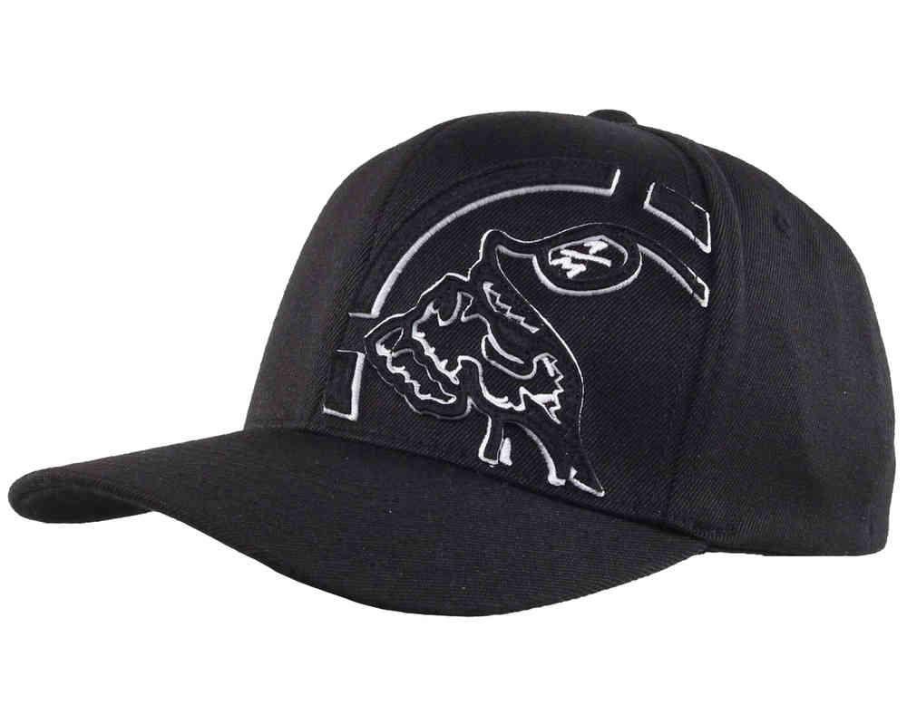 d2e774e1 Metal Mulisha Trimmed Black White Curved Cap / Hat unisex Flexfit L/XL
