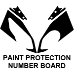 Race Replica Number Board Decal Kit - Paint Protection Gel System