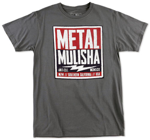 Metal Mulisha Cell Block T Shirt Mens Grey Tee FMX Clothing / Apparel M355S18344 CHA
