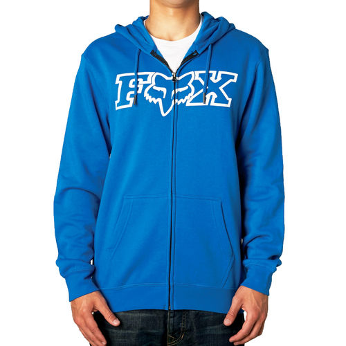 Fox Racing Legacy FHEADX Zip Fleece Mens Blue Hoodie / Hoody 14626-002 BLU