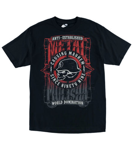 Metal Mulisha West Skull T Shirt Mens Black Tee MX / FMX Clothing SP6518038 BLK