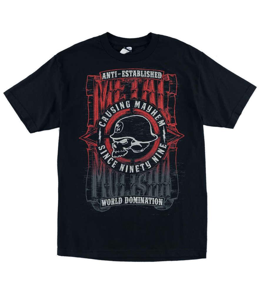 Metal Mulisha West Skull T Shirt Mens Black Tee MX / FMX Clothing SP6518038  BLK