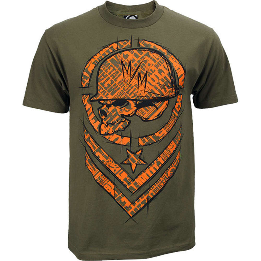 Metal Mulisha Shred T Shirt Mens Military Green Tee FMX Clothing   Apparel  M145S18107 MGN 2c3ea4e60