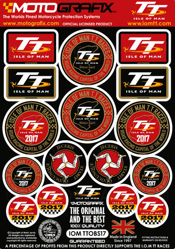 Isle Of Man TT Races IOM TT 2017 Official Licensed Black 3D Gel Badge Kit