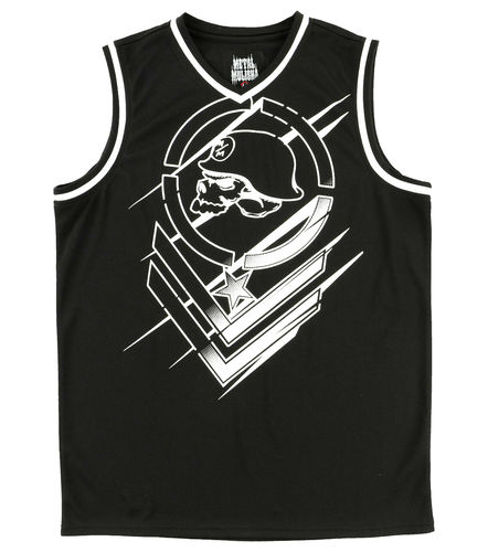Metal Mulisha Direct Jersey Mens Black White Vest MX / FMX Clothing SP7511001 BLK