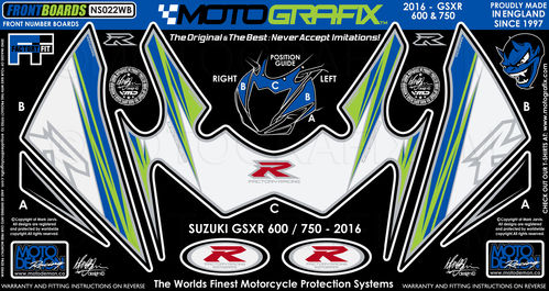 Suzuki GSXR 600 / 750 2016 Motorcycle Front Fairing Paint Protector NS022WB