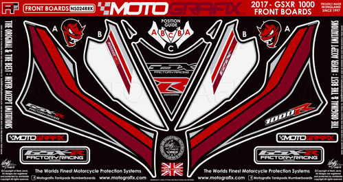 Suzuki GSXR 1000 / R 2017 18 Motorcycle Front Fairing Paint Protector / Chip Protection NS024RRK