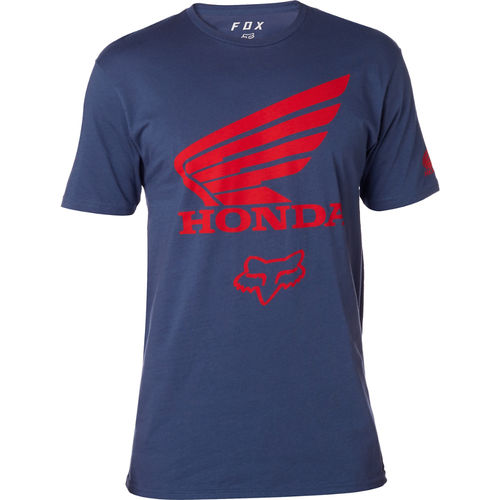 Fox Racing Fox Honda Premium SS Short Sleeve Tee / T shirt mens Blue Indigo 21195-202