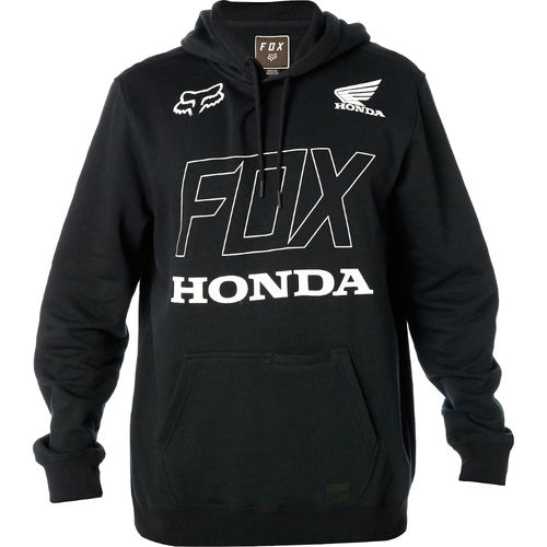 Fox Racing Fox Honda Pullover Fleece Mens Hoody / Hooded Sweatshirt Black 21146-001