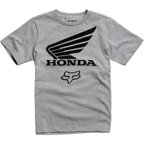 Fox Racing Youth Fox Honda SS Tee / T shirt Boys Grey MTB / Motocross Design 21010-416
