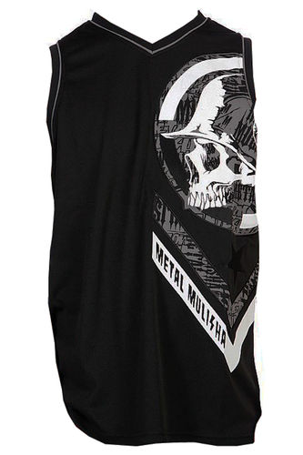 Metal Mulisha Gearbox Jersey Mens Black White Vest MX / FMX Clothing M14511101 BLK
