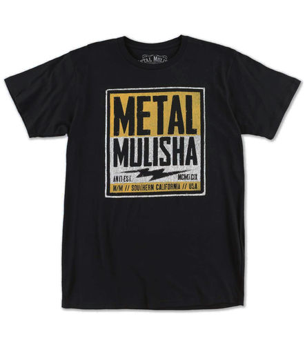 Metal Mulisha Cell Block Premium T Shirt Mens Black Tee FMX Clothing / Apparel M355S18344 BLK