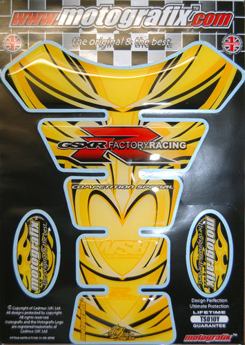 Suzuki GSXR 600 750 1000 Motorcycle Tank Pad Protector Paint Protection Decal TS010Y S1
